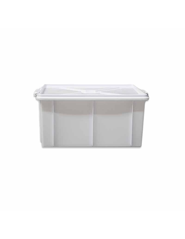 CASSETTA BOX C/COP E GANCI CM 50X40X26 BIANCA LT40