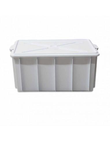 CASSETTA BOX C/COP GANCI CM 75X45X40 BIANCA LT100